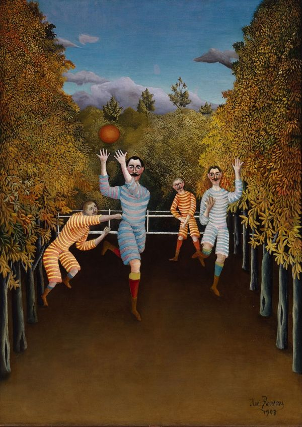 Rousseau, Henri: The Football Players. Fine Art Print/Poster. Sizes: A4/A3/A2/A1 (00556)